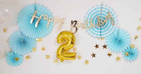 我が家の息子も2歳になりました。2歳の誕生日をお祝い!